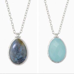 Stella & Dot Reversible Sanibel Necklace in Silver